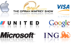 Apple, The Oprah Winfrey Show, United Airlines, Google, Microsoft, ING